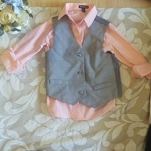 GEORGE  SIZE 5 BOY DRESS.TOP WITH VEST
